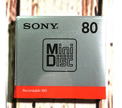 Sony MD80 Blank Mini Disc 80 Minutes Recordable MD Japan New