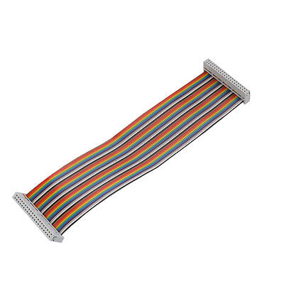 40Pin Way GPIO Female To Female Rainbow Ribbon Cable Cord For Raspberry Pi