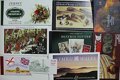 Great Britain Lot of 9 Stamps Booklets, High CV  #a1006