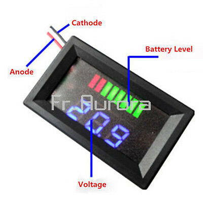 Charge Level Baterry Level Indicator Voltmeter Stable for 12V Lead-acid Battery