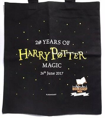 Harry Potter and the Philosophers Stone 20th Anniversary TOTE BAG & BOOKMARK