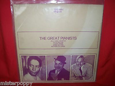 THE GREAT PIANISTS JAZZ LP 1973 ITALY MINT- Jelly Roll Morton Fats Waller Basie