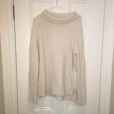 Assembly Label Women's Cream/White High Neck Jumper (size 10)