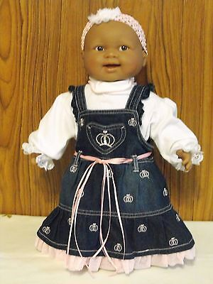 DARK BERENGUER DOLL,SOFT BODY DOLL, NEW 3 PIECE OUTFIT.50cm - 20 inch
