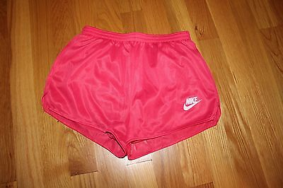 NOS 1970s 1980s Girls' Vibrant Fuschia Pink Nike Athletic Shorts