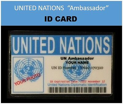 """""""UNITED NATIONS """"Ambassador""""  movie IDs YOUR CHOICE OF..."""