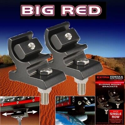 Big Red Single Row Bar Slider Bracket 2 Pack Suit Extra Power Light Bars BR9086