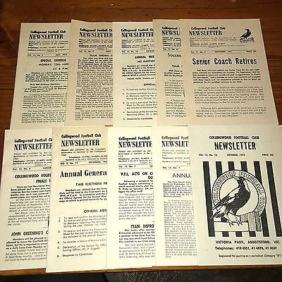 10 Collingwood Football Club Newsletters From 1971-74. Lot 1
