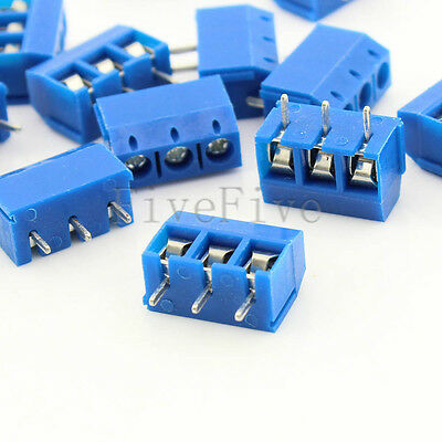 3 poles/3 Pin 5mm 3 way straight PCB Universal Screw Terminal Block Connector