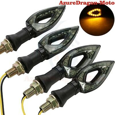 Universal 4PCS LED Turn Signal Indicator Amber Light For Honda Suzuki Yamaha KTM