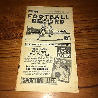 1954 Home And Away Football Record - Fitzroy V Essendon