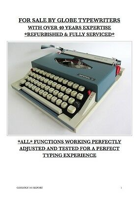 Vintage 'imperial 220' Portable Typewriter **fully Working + Fully Serviced**