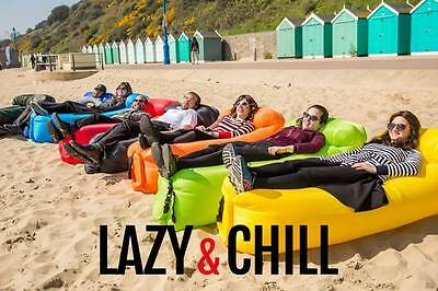 Lazy & Chill Air Lounger - Self Inflating - Available in 9 colours