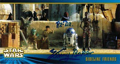 10 sigend topps Star Wars Widevision cards: u.A. Anthony Daniels & Kenny Baker