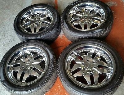 20 inch 4WD Chrome mag wheels (4×4) 6 stud & tyres