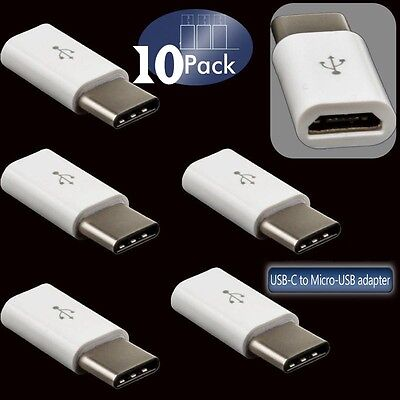 10X Micro USB to USB3.1Type C Charger Adapter for Android Samsung Galaxy S8 /S8+