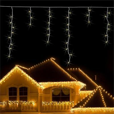 24M Outdoor Christmas String Lights 480 Led Warm White Flash Motion