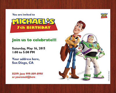 Toy Story Birthday Invitations, Personalized, Party, Printable Digital File
