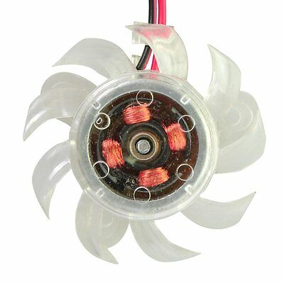 2pin 45mm 4.5cm Transparent Fan for PC Desktop Computer VGA Video Graphics Card*