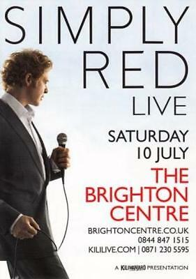 Simply Red 'LIVE' 2010 UK Brighton Concert A5 Flyer - New