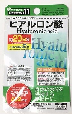 DAISO JAPAN Hyaluronic Acid Supplement 40tablets x1~x5 JAPAN FREE SHIPPING