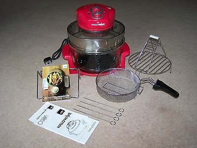 JML Halowave Halogen Oven with extention - Red