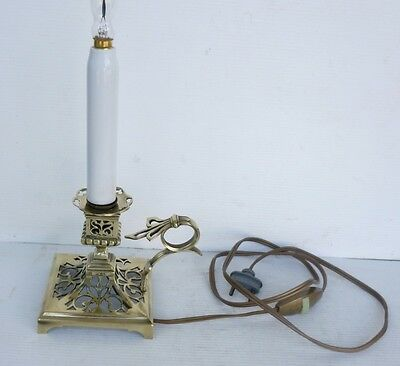 Pretty LAMPE TABLE Antique Candleholder Bronze 19th century
