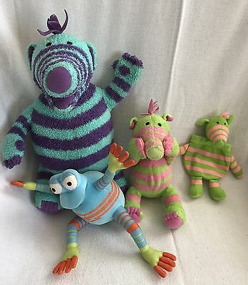 Fimbles Soft Toy Lot Pull string Purse Rockit Florrie Fimbo Fisher Price