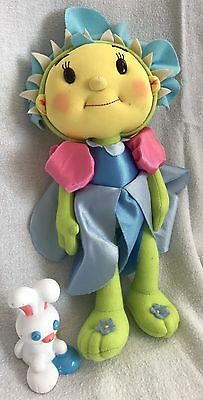 """Fifi And The Flowertots Fifi Soft Doll Cup & Rabbit 11"""" Tall 2009 Vivid"""
