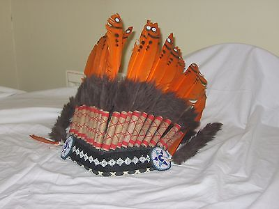Native American headdress.adult size.free UK delivery