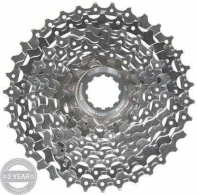 Shimano Deore XT CS-M770 Cassette Sprocket Silver 9 Speed Gear 11-34T Tooth Bike