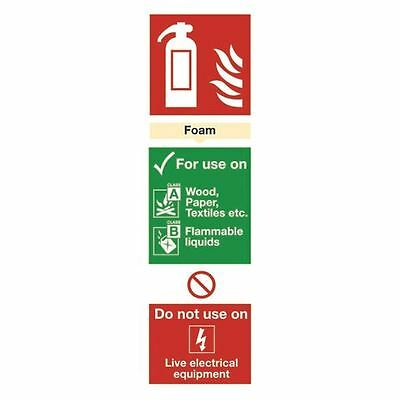 Safety Sign Fire Extinguisher Foam 280x90mm Self-Adhesive [SR71136]