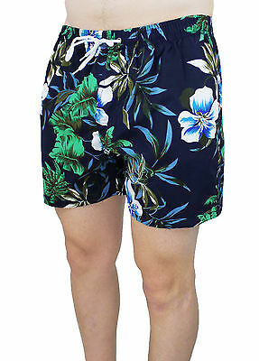 Men's Custome Slim Fit Navy Blue Casual Fiore Shorts Short Boxer Tight