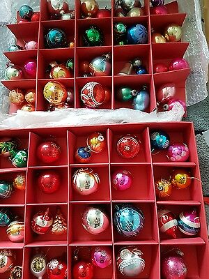 joblot of 83 vintage glass christmas tree baubles