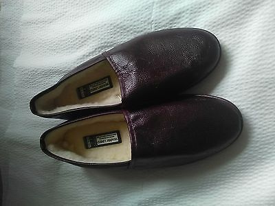 Marks and Spencer Men's leather slippers BN Size 7