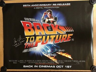 Back To The Future - Original Cinema Quad Poster - Hand Signed By Lea Thompson