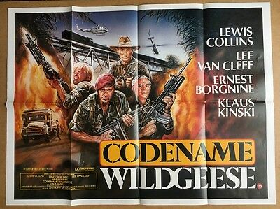 Codename Wildgeese- UK QUAD Cinema POSTER - Lewis Collins - Lee Van Cleef