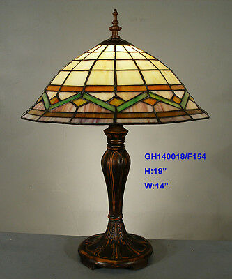 *LAST 1* TIFFANY STAINED GLASS NOUVEAU LEADLIGHT LOUNGE TABLE LAMP Home Decor