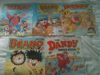the beano and dandy summer special comics 1993 1994 1996 job lot x5 oversize