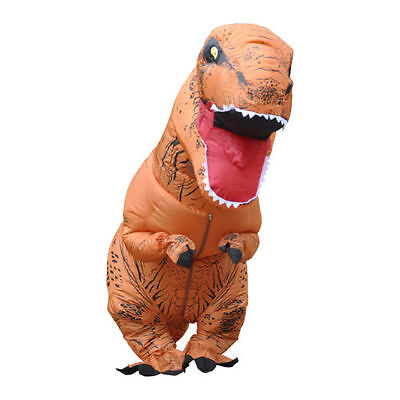 Adult T-REX Dinosaur Inflatable Halloween Costume Party Club Fancy Dress Suit
