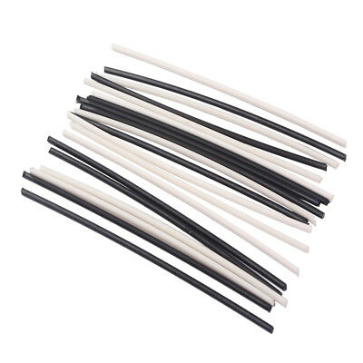 Guitar Neck Side Dots Sticks for Electric Guitar Parts Black & White 20 Pack