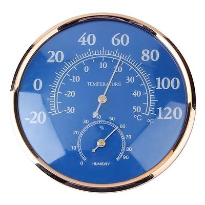 130mm Blue Round Thermometer Hygrometer excellent quality