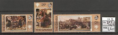 Child B02 MNH 1979 Gambia 3v Art painting William Frith