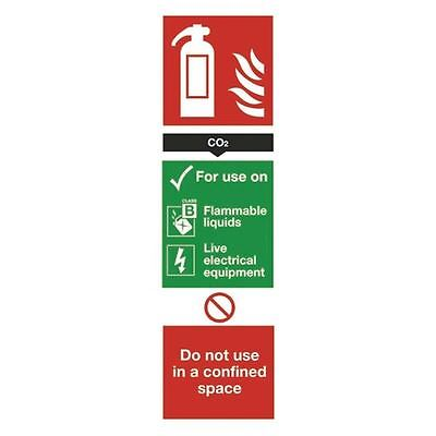 Safety Sign Carbon Dioxide Fire Extinguisher 280x90mm Self-Adhesive [SR71138]