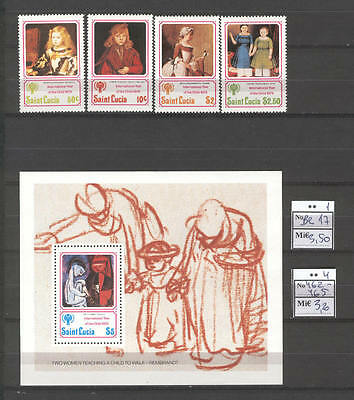 Child C39 MNH 1979 Saint Lucia 4+1 Art painting