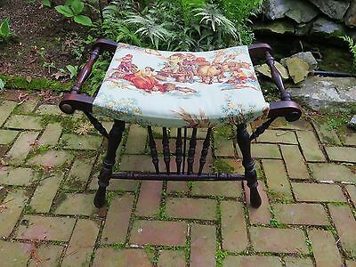 Authentic Victorian Bench, Stool, Seat For Vanity, Sewing, Accent. Padded.
