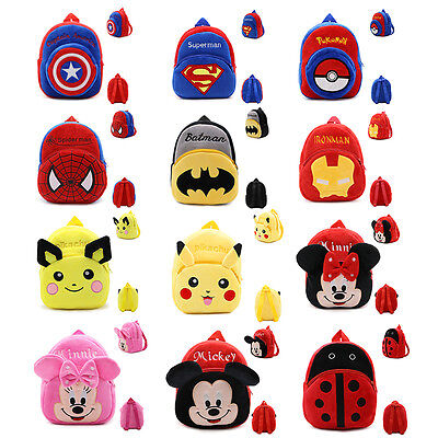 Cute Cartoon Backpack School Bag Kindergarten Bag for Toddler Kids Boy Girl