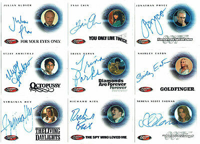 James Bond 007 Large Collection Lot 106 Autograph Cards All Different 40th Ann