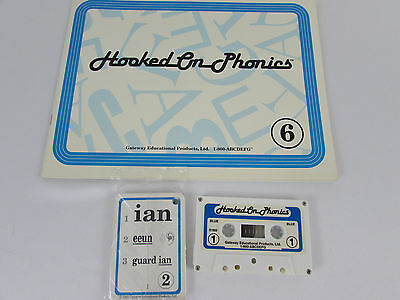 Hooked on Phonics Learn to Read Book 6 Audio Tapes Flashcards ~ Incomplete Set