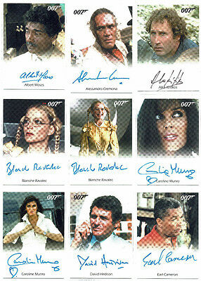 James Bond 007 Large Collection Lot 28 AFull Bleed Autograph Cards All Different